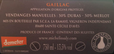 Gaillac vin rouge